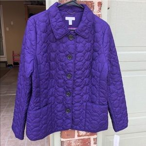 Charter Club Women Purple Jacket